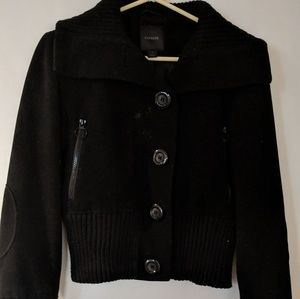 Black Express wool bomber jacket size S